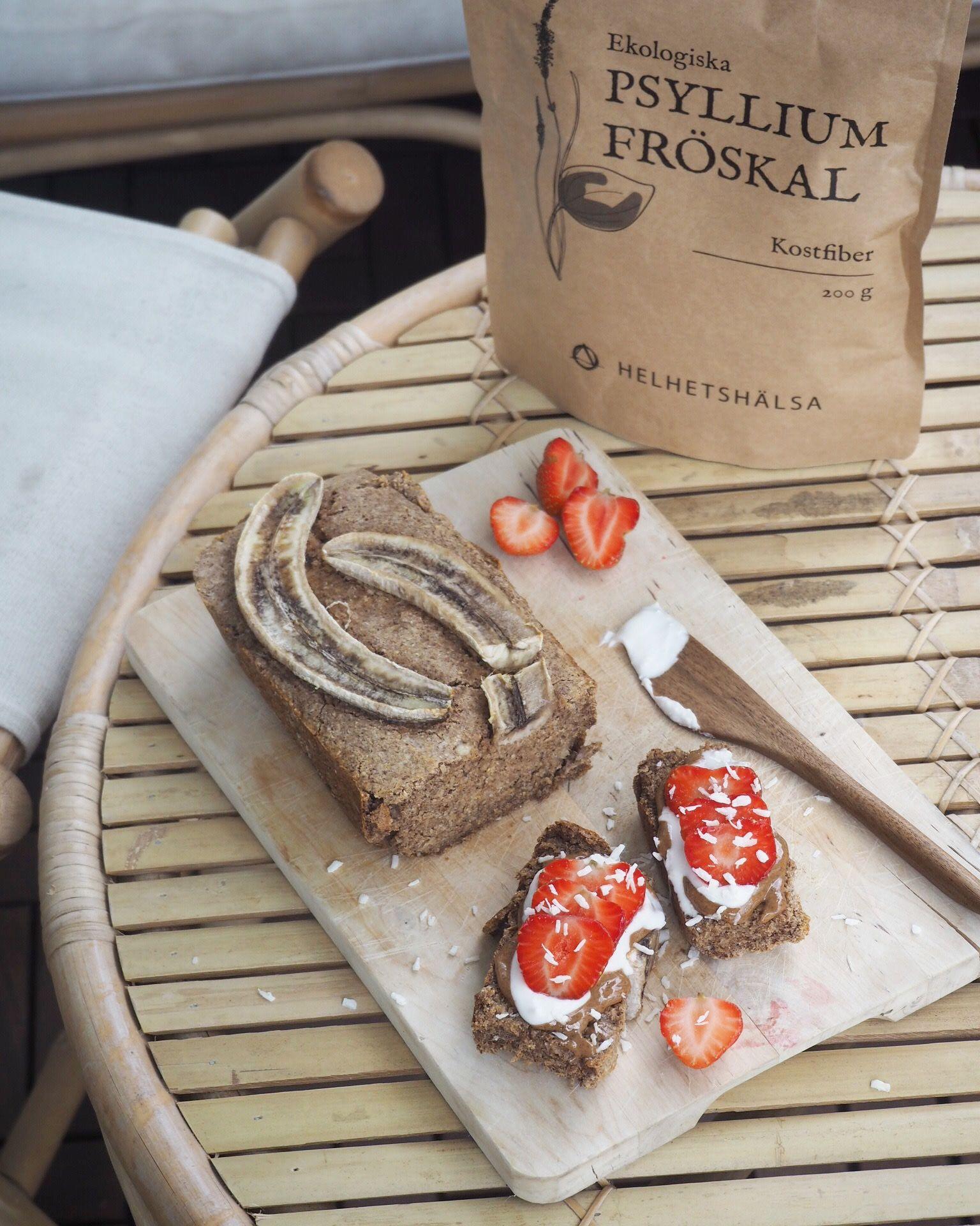 Bananbröd, Glutenfritt bananbröd som passar till både frukost och mellanmål.