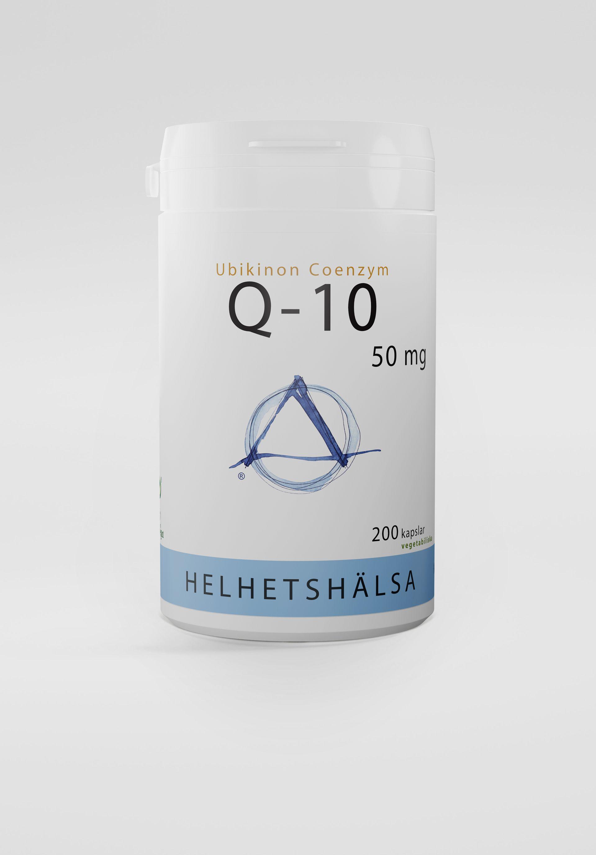 Q10, 50 mg, 200 kapslar