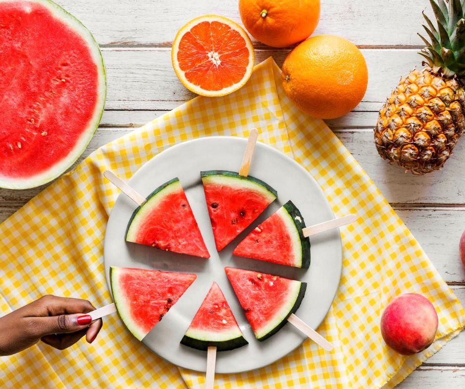 Vattenmelonglass - vegansk, Recept på enkel melonglass