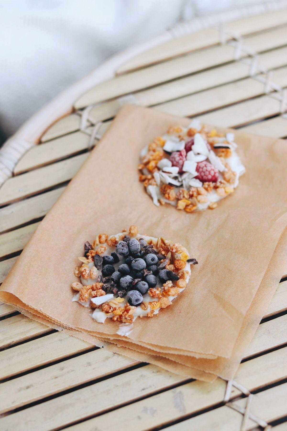 Mini yoghurtpizzas, Vegansk desssertpizza